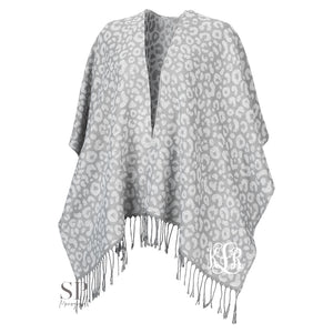 Monogram Kennedy Shawl - Smokey Leopard