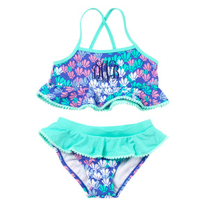 Monogram Girls Swimsuit Set