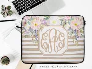 Monogram Laptop Case