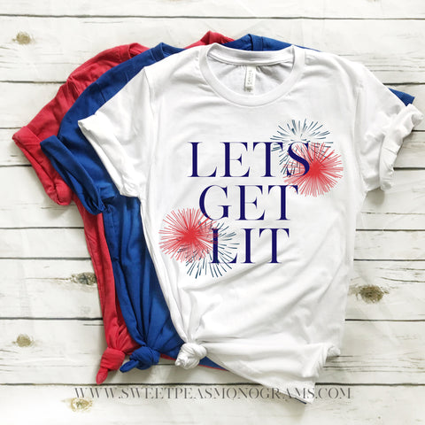 Lets Get Lit Graphic Tee