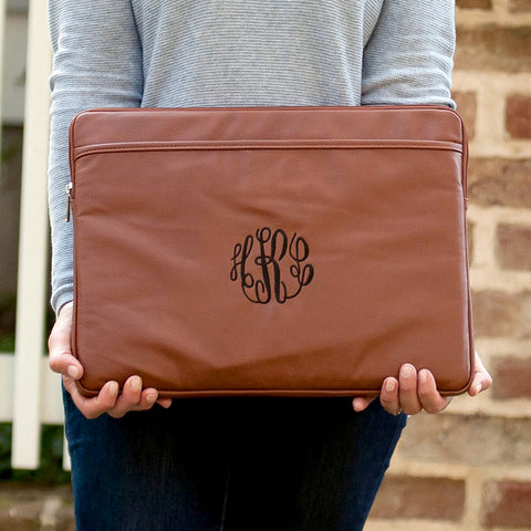Monogram Vegan Leather Laptop Sleeve