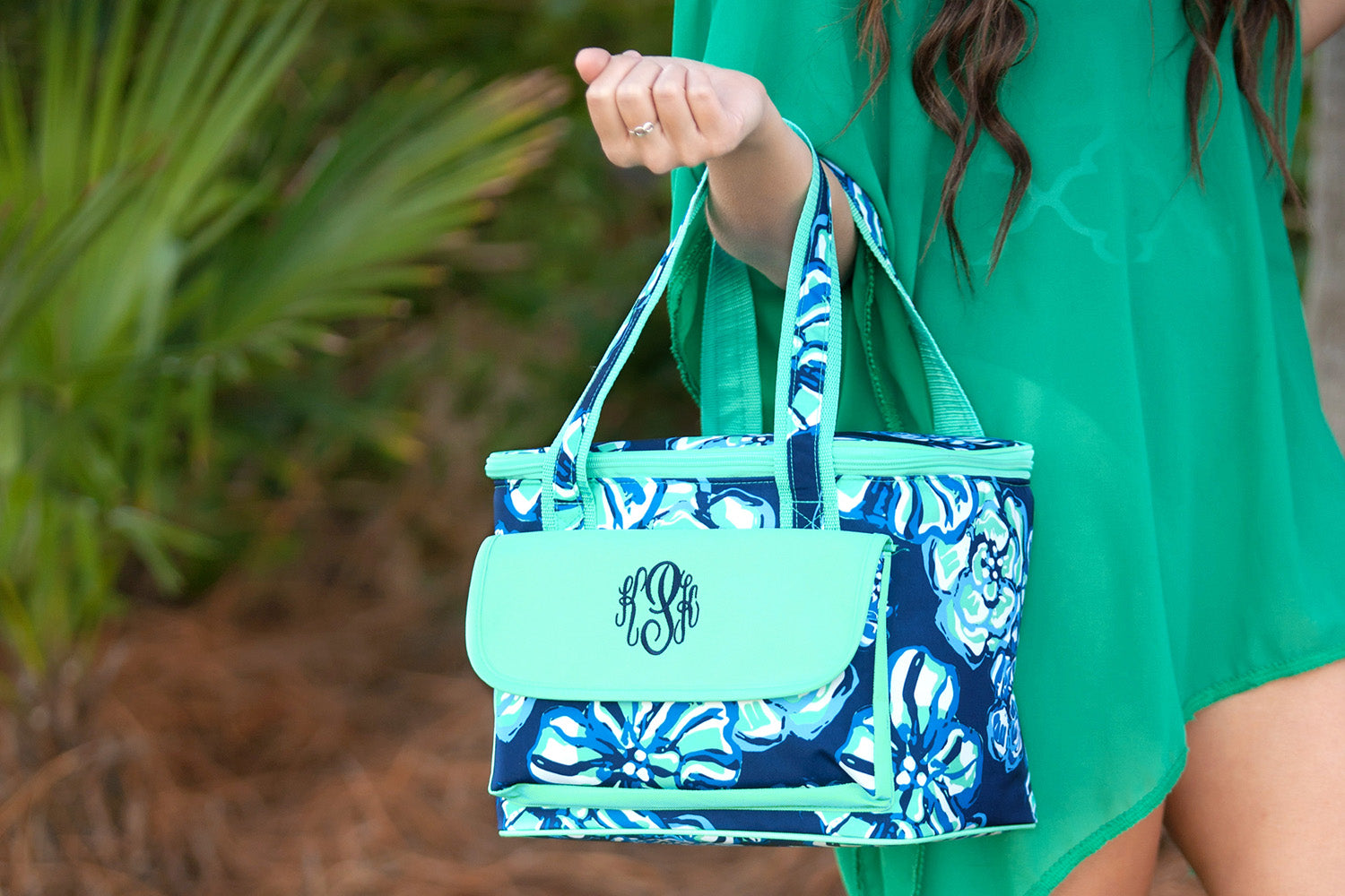 Monogram Cooler Bag - Maliblue