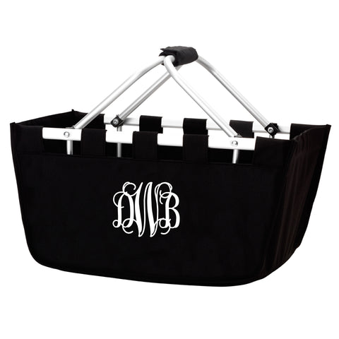 Monogram Market Tote in Black