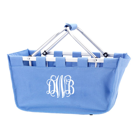 Monogram Market Tote in Blue