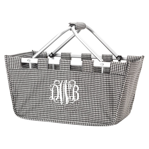 Monogram Market Tote in Houndstooth
