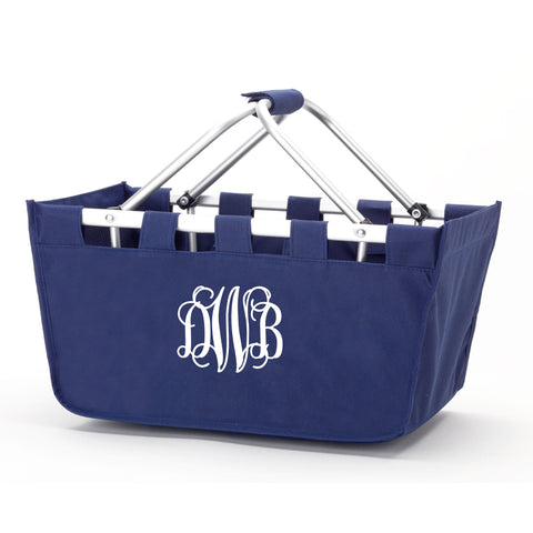 Monogram Market Tote in Navy