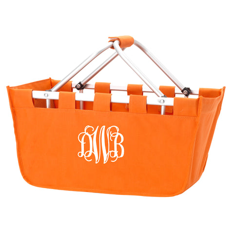 Monogram Market Tote in Orange