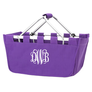Monogram Market Tote in Purple