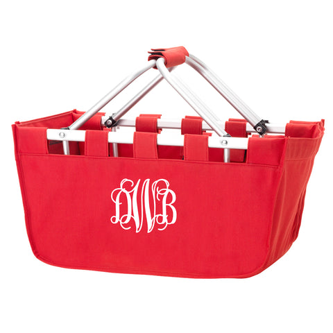 Monogram Market Tote in Red