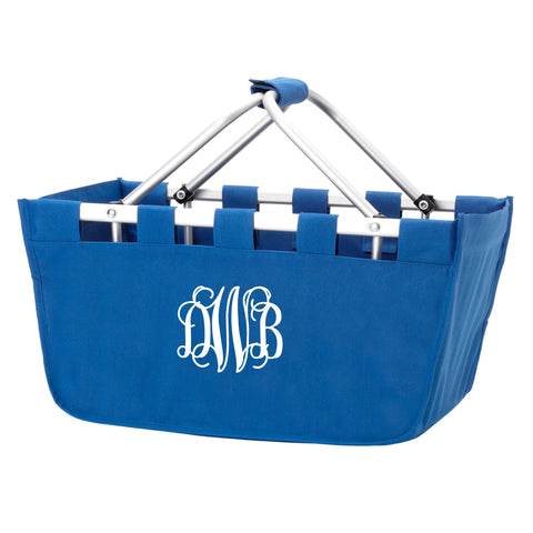 Monogram Market Tote in Royal Blue