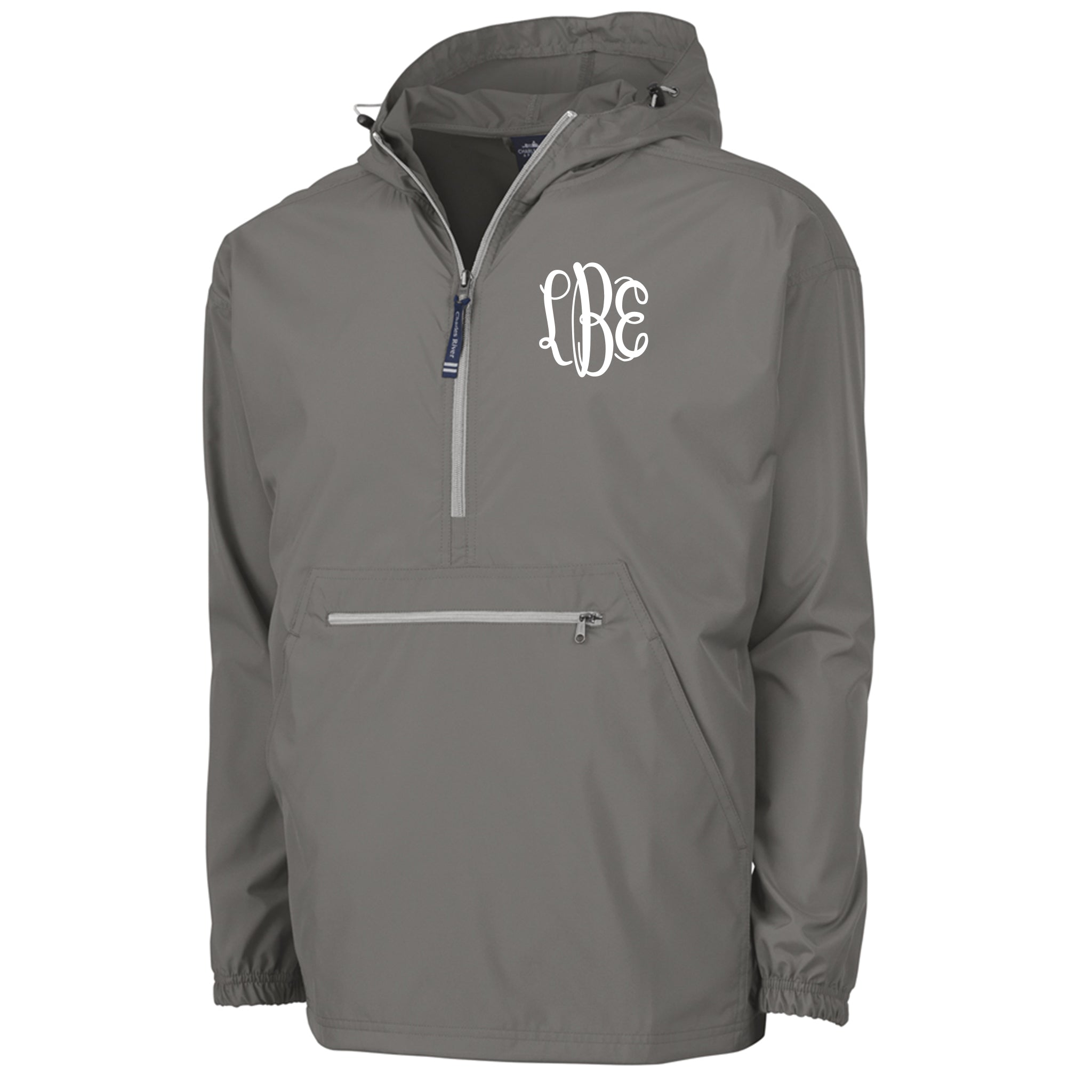 Monogram Pack-N-Go Pullover in Grey