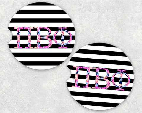 Pi Beta Phi Car Coasters