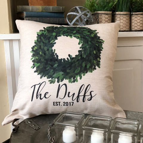 Custom Name Farmhouse Pillow