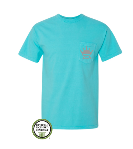 Zeta Tau Alpha Crown Pocket Tee