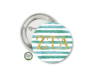 Zeta Tau Alpha Pin Back Button