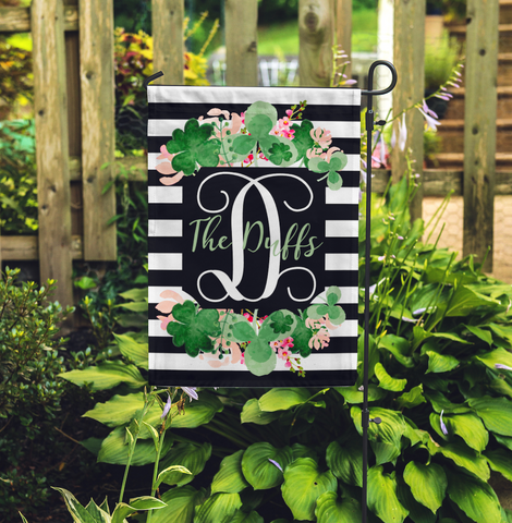 Personalized St. Patrick's Day Garden Flag