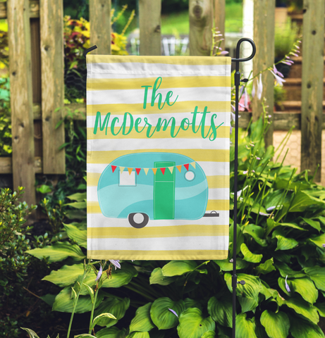 Personalized Camper Garden Flag