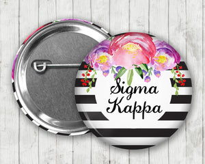 Sigma Kappa Pin Back Button
