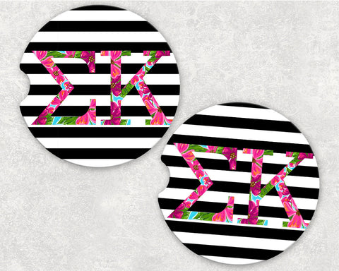 Sigma Kappa Car Coasters