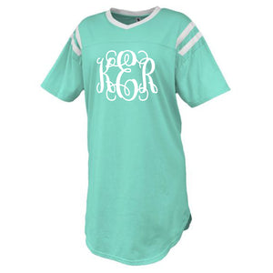 Monogram Mint Jersey Sleep Shirt