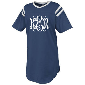 Monogram Navy Jersey Sleep Shirt