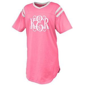 Monogram Pink Jersey Sleep Shirt