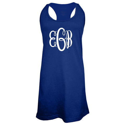 Large Monogram Swim Tank Cover Up