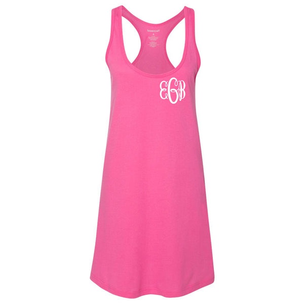 Monogram Swim Tank Cover Up