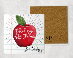 Custom Thank You Teacher Coaster