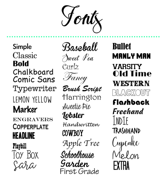 font style choices