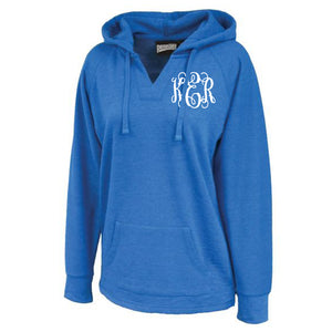 Monogram Volley Hoodie in Royal Blue