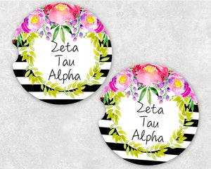 Zeta Tau Alpha Car Coasters
