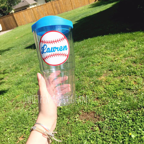 Personalized Baseball Tumbler Cup