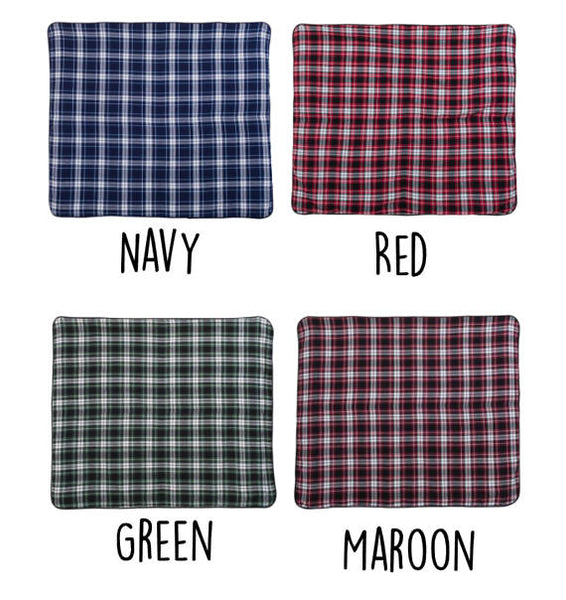 Monogram Plaid Fleece Blanket