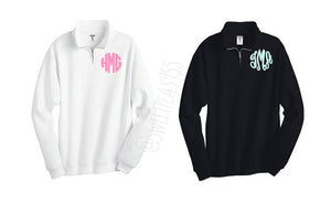 Monogram Fleece Quarter Zip Pullover