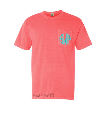 Monogram Comfort Color Pocket Tee