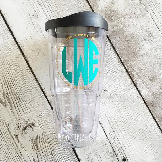 Arrow Monogram Tumbler Cup
