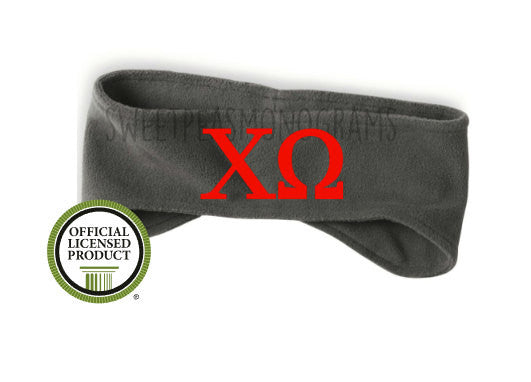 Chi Omega Fleece Headband