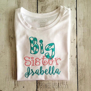 BIG or LITTLE Sister Shirt, Sister Announcement Shirt, Sister Shirt
