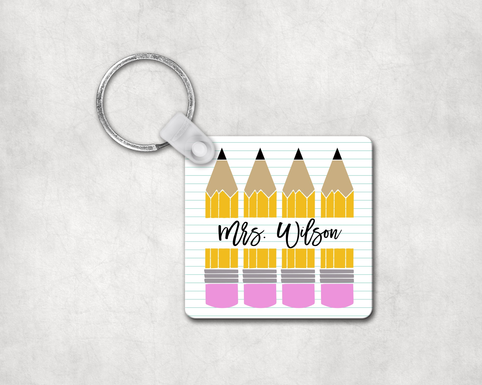 Custom Pencil Keychain