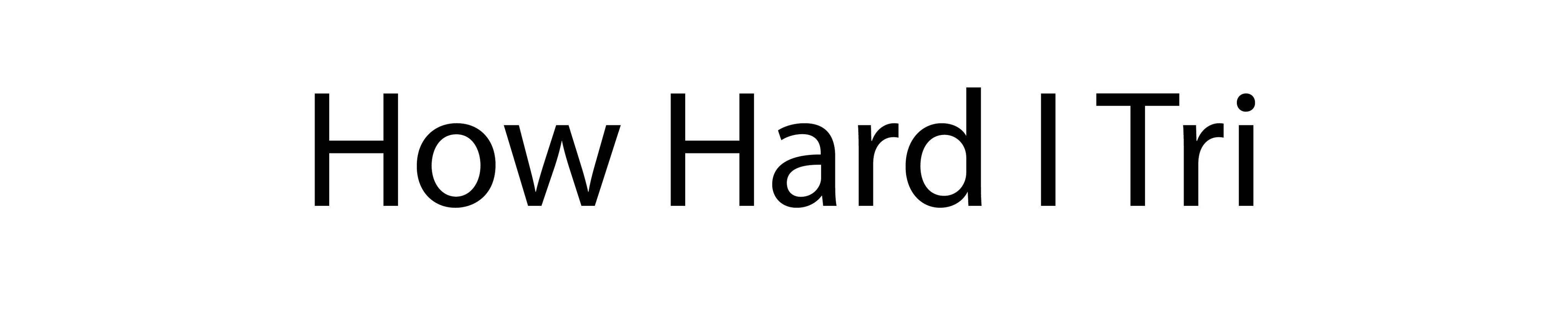 How Hard I Tri Logo