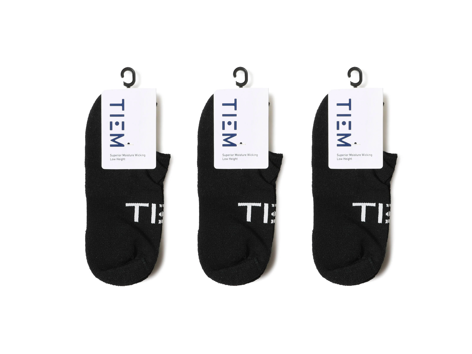 TIEM Low-cut Socks (3 pairs) - Black