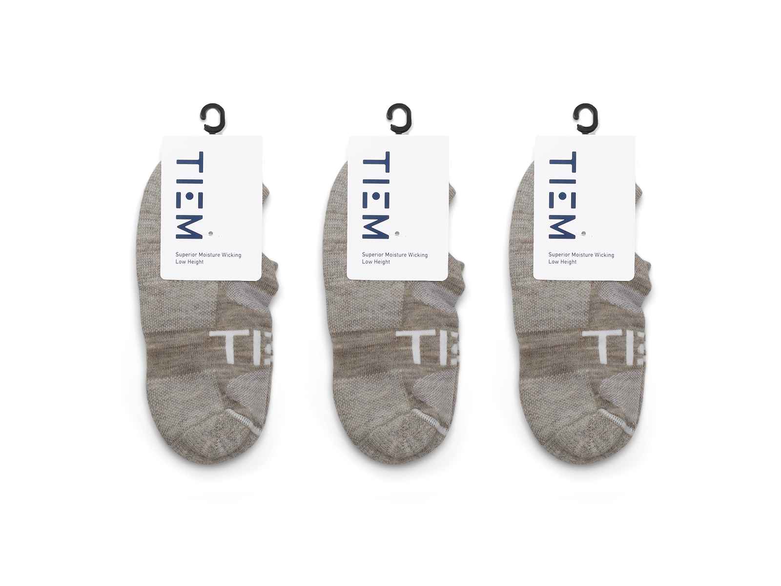 TIEM Low-cut Socks (3 pairs)  - Oatmeal