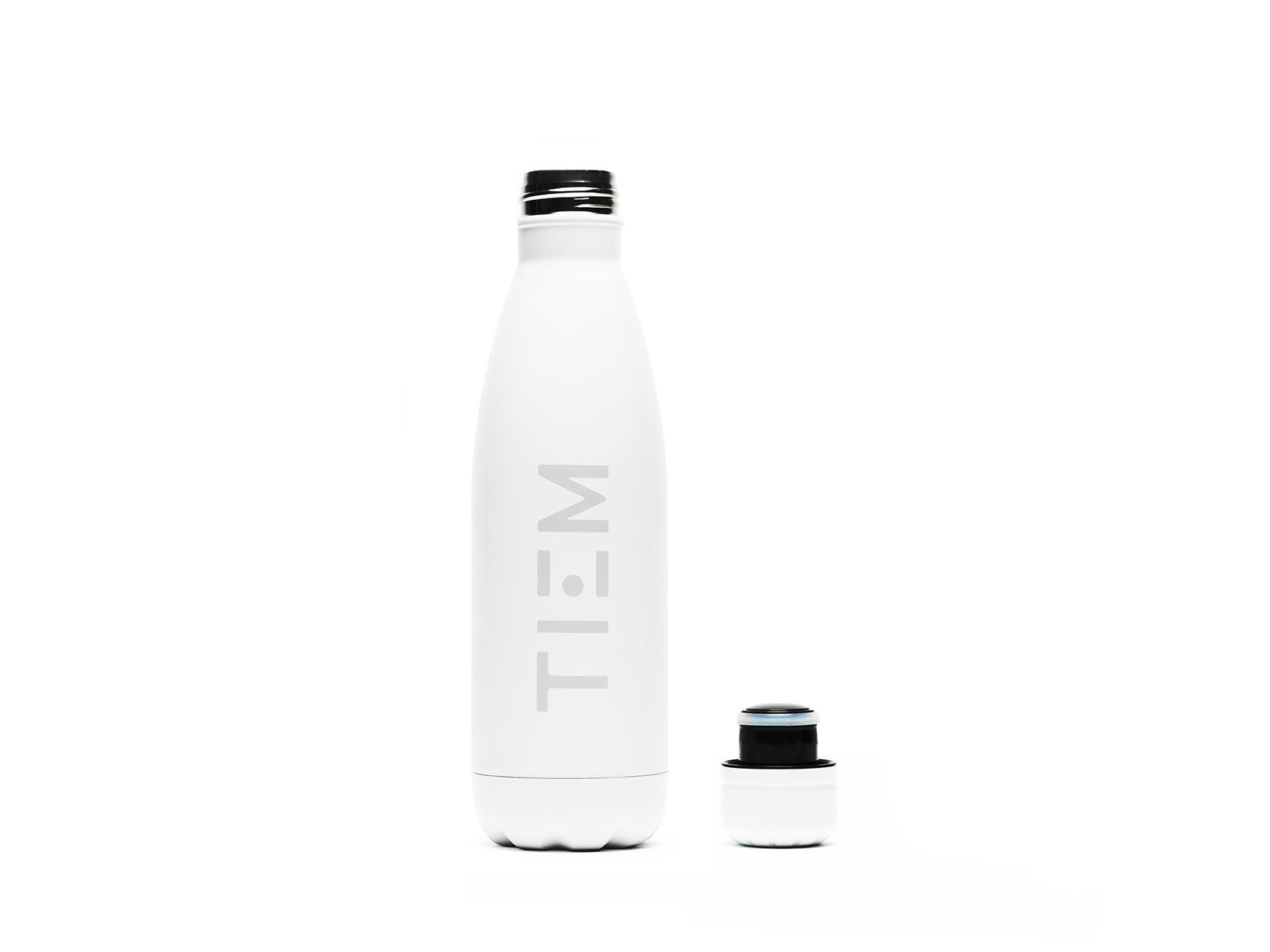 TIEM Insulated Water Bottle - White