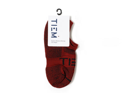 TIEM Low-cut Socks - Merlot/Black