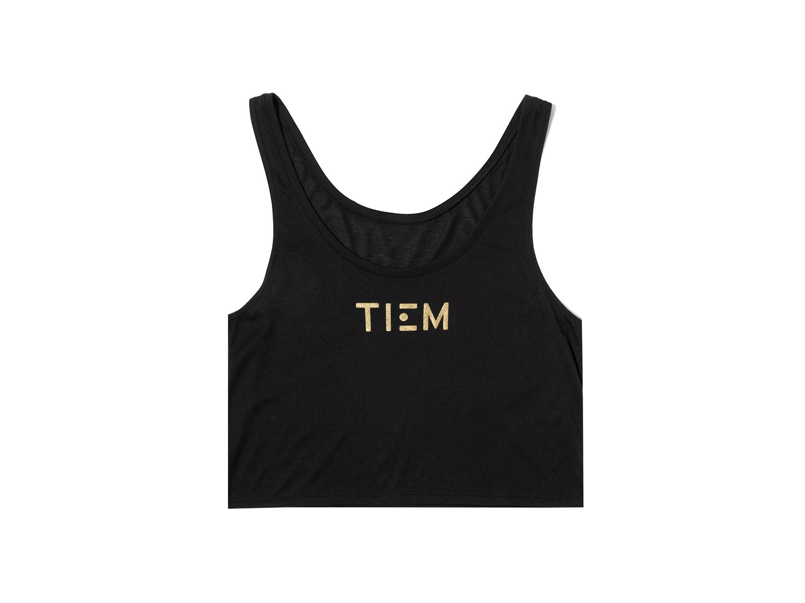 Cropped Tank Top - Black/Gold