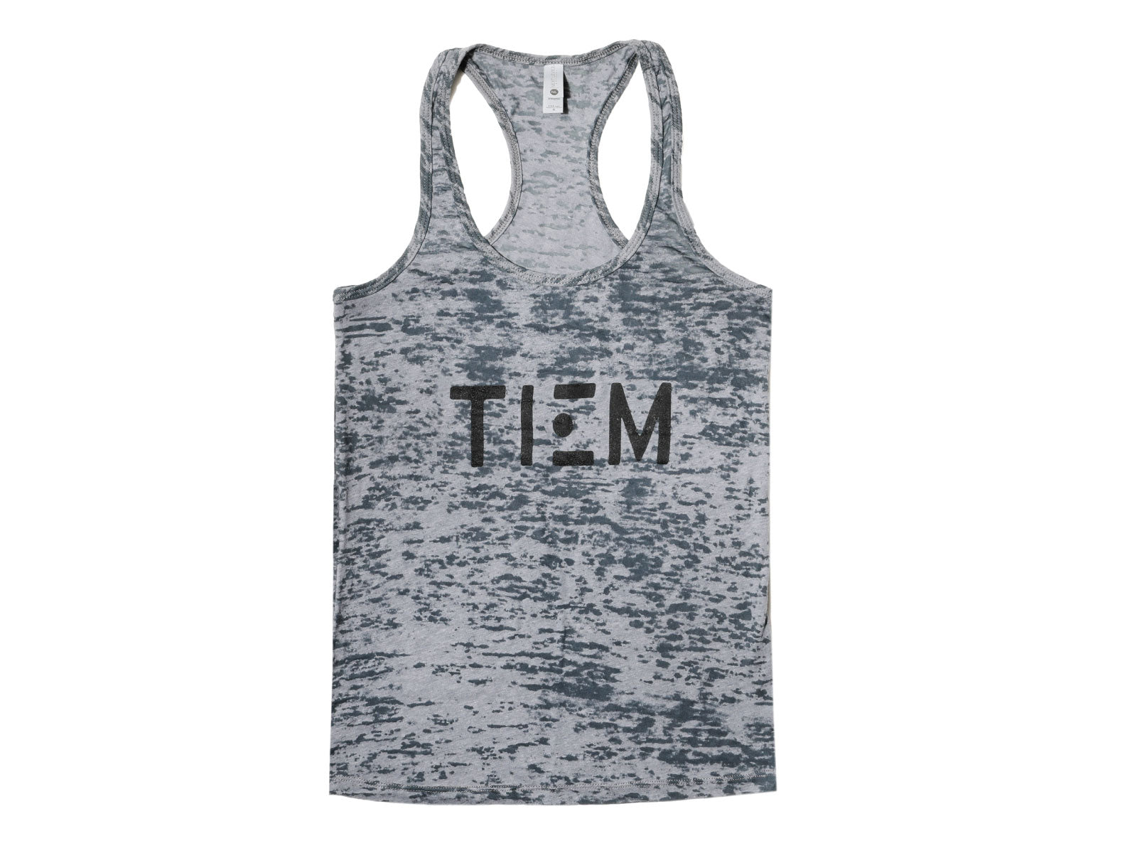 Racerback Tank Top - Gray/Black