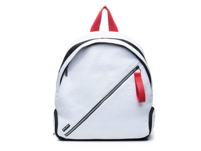 Round Backpack - White/Red