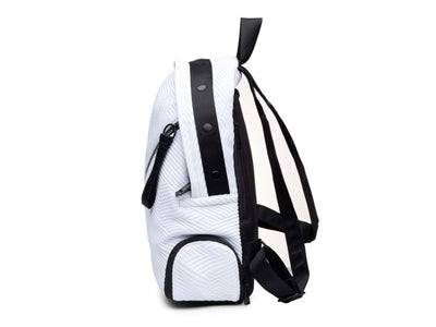 Round Backpack - White/Black