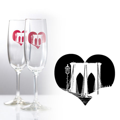 bad girl barware brooklyn champagne glass custom